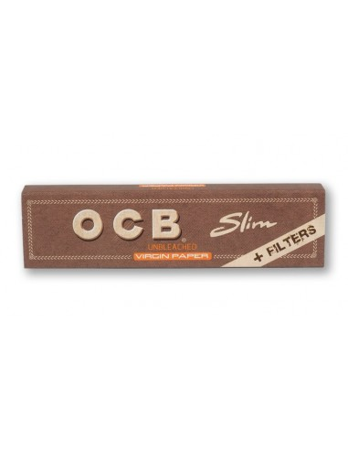 PAPEL OCB VIRGIN SLIM KING SIZE + TIPS