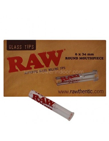 Raw tips glass round